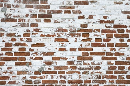 weathered stained old red brick wall background