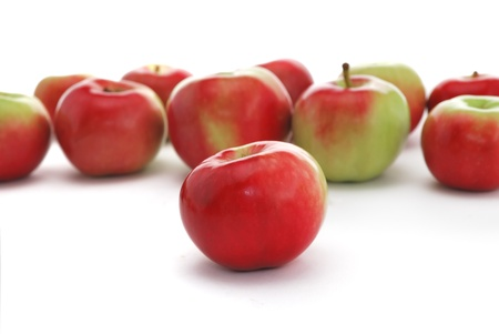Apples on white background. Isolated apples. photo