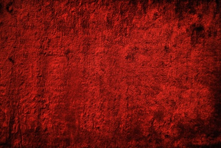 Red velvet cloth. The texture of velvet. photo