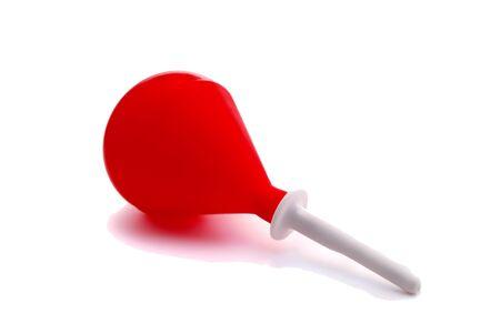 einlauf: Red Rubber Enema auf wei�em Hintergrund