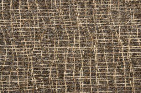 roughness: Fabric texture of sisal fibers. Sacking of sisal