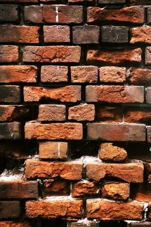 Old crumbling brick wall. A wall of red brick. Stock Photo - 12566717