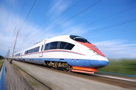 High-speed commuter train. Express Peregrine Russia. Train Sapsan