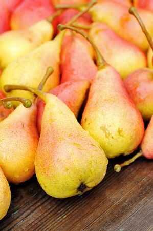 Ripe red pears on the table. Stock Photo - 12566644