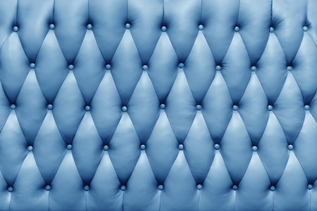 quilted: Sofa texture. blue leather quilted Stock Photo