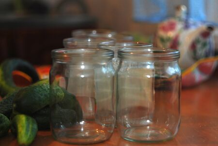 beforehand: glass jar empty for billets for the winter