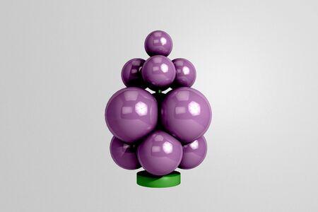symbolic: symbolic Christmas tree toy 3D