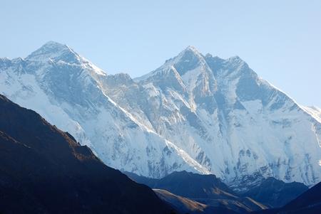 Everest and Lhotse Nepal Sagarmatha