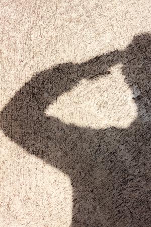 silueta hombre: Fondo de la sombra Salute.