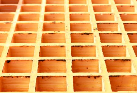molded: Blur background old plastic grating background.