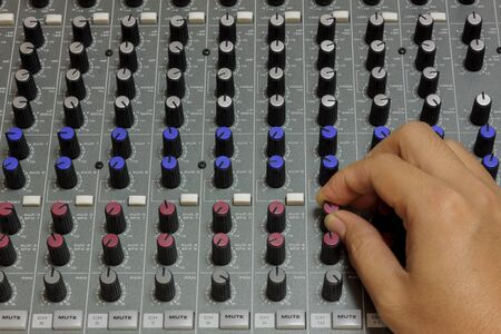 tuning: Finger someone sound tuning mixer.