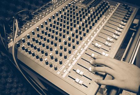 soundboard: selective focus finger sound tuning of sound mixer