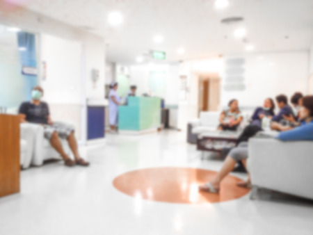 Blur background the  patient waiting doctor for treatment in hospital. Foto de archivo