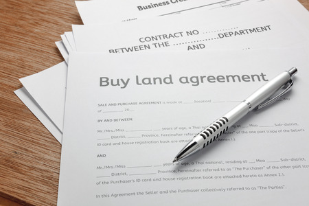 Land Sale Agreement Images  Stock Pictures Royalty Free Land