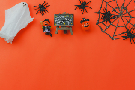 above view of accessory decoration happy halloween festival background stock photo picture and royalty free image image