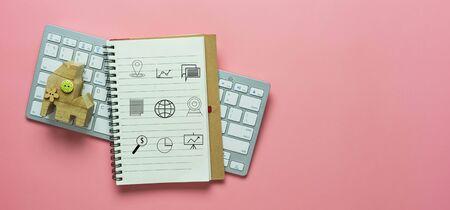 Business & Finance digital global online icon concept. 免版税图像
