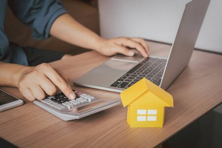Business & Finance home loan mortgage. 免版税图像