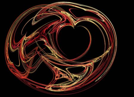 Colored heart on a black background photo