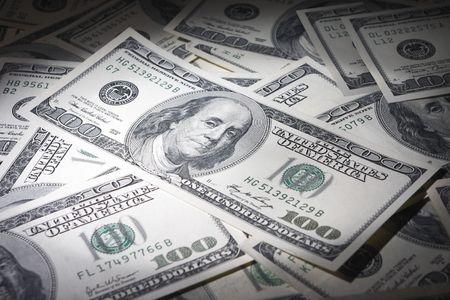 Hundred bank notes os background Stock Photo - 6297918