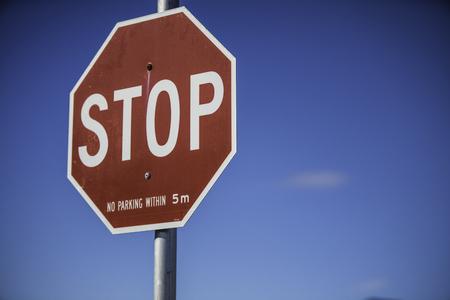 Stop sign Banco de Imagens