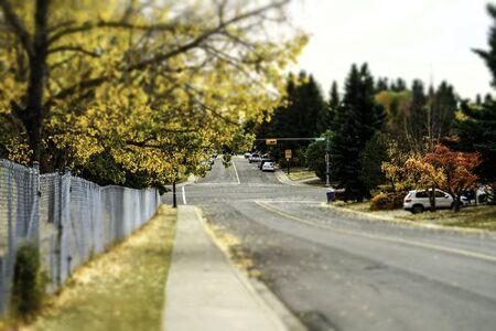 Autumn fall street view Banco de Imagens
