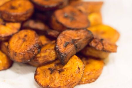 Fried Plantain Ready to Eat Stock Photo