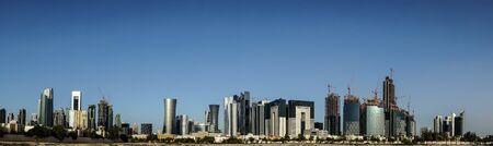 Doha City Skyline focusing on west bay, New Doha