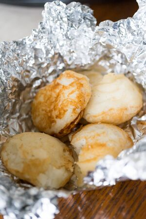 Masa Nigerian Rice Cake Meal wrapped in aluminum foil
