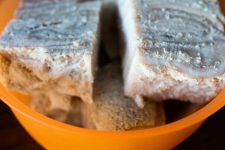 Nigerian Frozen Tripe ( Shaki ) in Orange Bowl
