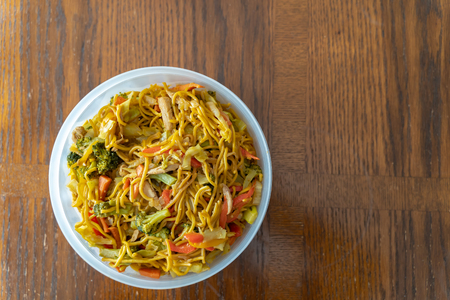 Spicy Thai Noodles with vegetables ready to eat Banco de Imagens