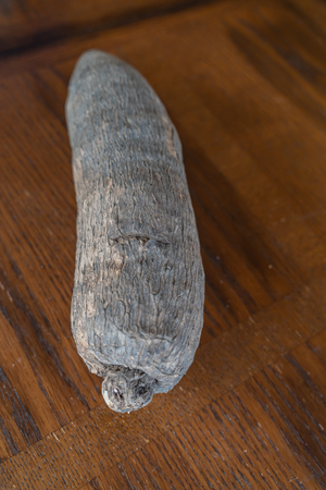 A Tuber of Nigerian Yam ready for cooking 写真素材 - 115602073