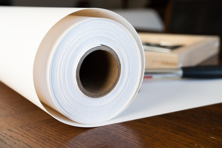 Roll of Canvas with Stretcher frames for print and framing photographs ont Canvas Banque d'images