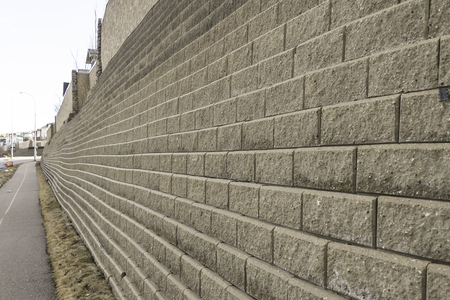 Retainer wall in City Urban street to prevent soil washing away