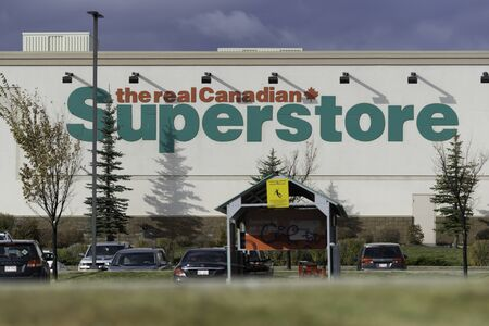 14 October 2019 - Calgary , Alberta, Canada - Canadian superstore logo on side of a building