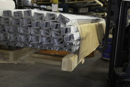 Bundle of Drip Cap Flashing on a pallet for Shipping