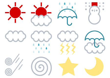 gale: Weather icons Stock Photo