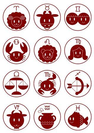 capricornus: Zodiac Astrology Icon Stock Photo
