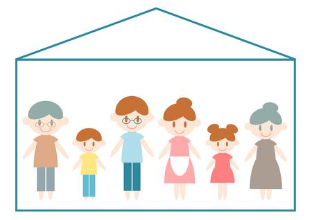 happy couple house: Family Stock Photo