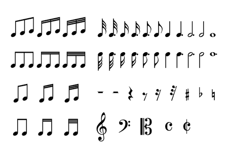 treble g clef: Icon of the music Illustration