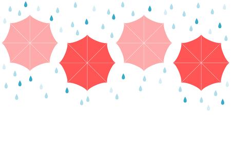 Rain and umbrella Illustration