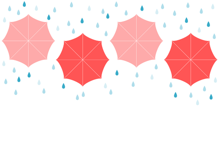 Rain and umbrella Ilustrace
