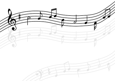Background illustration of the music Illustration