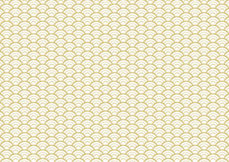 japanese culture: Traditional pattern of the gold wave