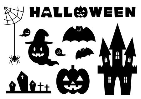 Icon set of the Halloween