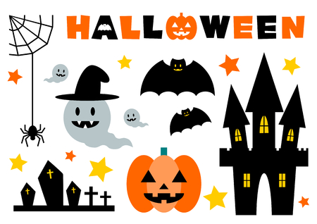 Icon set of the Halloween
