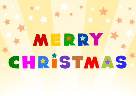 별: Merry Christmas and Star 일러스트