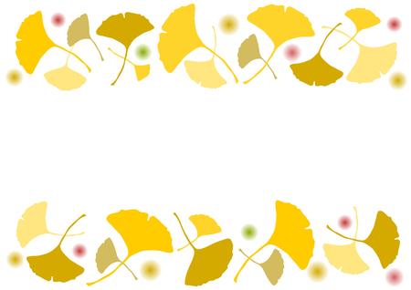 gradation art: Autumn ginkgo
