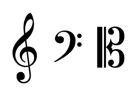 treble g clef: Illustration of the clef