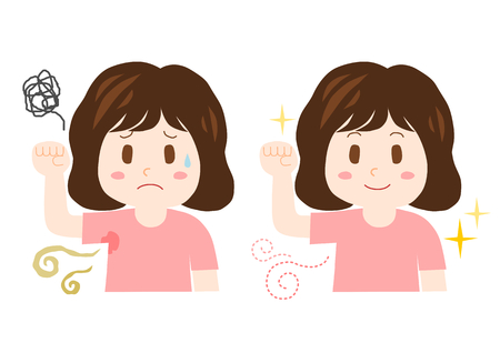 Trouble of Body Odor Illustration
