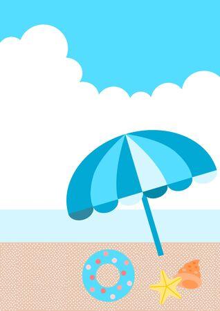parasol: Seaside parasol Illustration